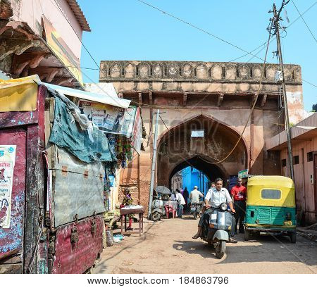Street In Agra, India