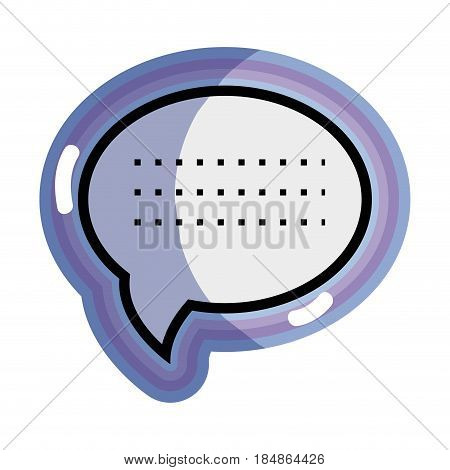 bue chat bubble communication message, vector illustration