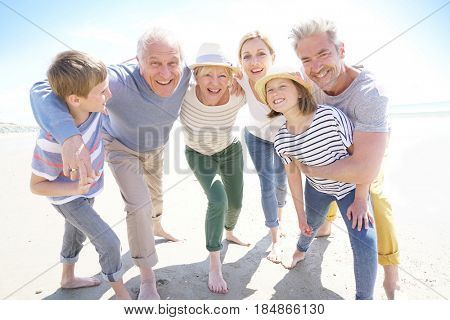Portrait of happy intergenerational family