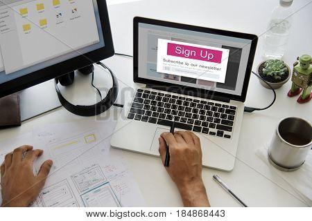 Subscribe Newsletter Membership Social Media