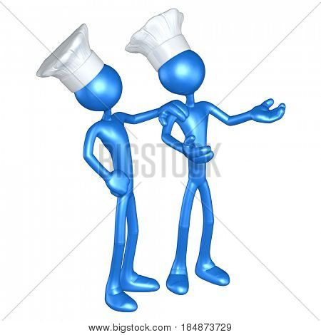 Chef's The Original 3D Characters Illustration