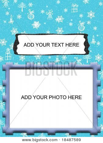 modern winter holdays greetings card