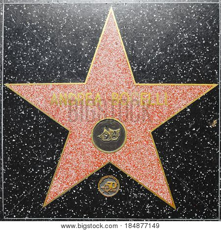 Andrea Bocellis Star On Hollywood Walk Of Fame