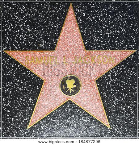 Samuel L Jacksons Star On Hollywood Walk Of Fame