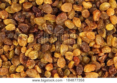 Raisin texture. Raisin background, tasty, natural top view