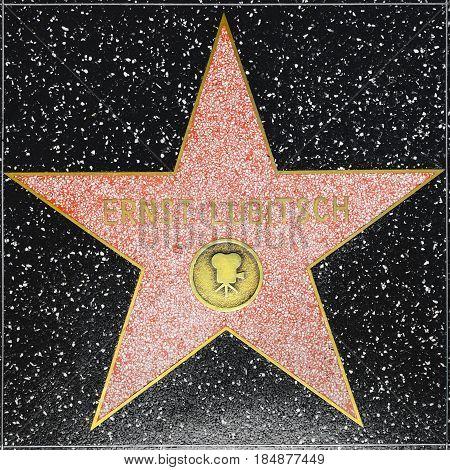 Ernst Lubitschs Star On Hollywood Walk Of Fame