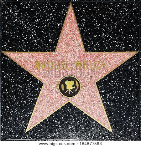 Raquel Welchs Star On Hollywood Walk Of Fame
