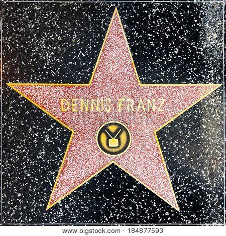 Dennis Franz Star On Hollywood Walk Of Fame