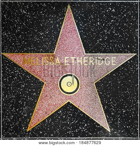 Melissa Etheridges Star On Hollywood Walk Of Fame
