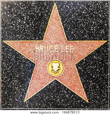 Bruce Lees Star On Hollywood Walk Of Fame