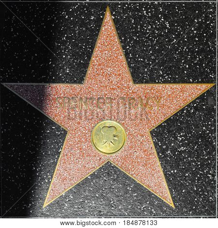 Spencer Tracys Star On Hollywood Walk Of Fame