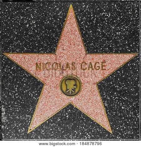 Nicolas Cages Star On Hollywood Walk Of Fame