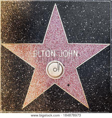 Elton Johns Star On Hollywood Walk Of Fame