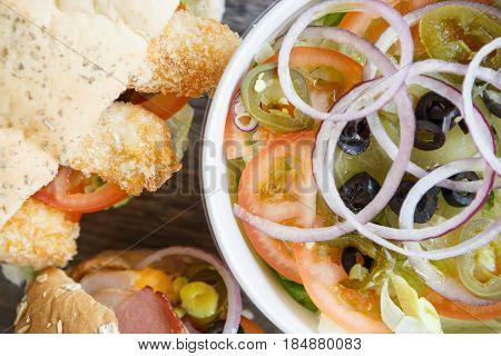 Fast Food Restaurant Sandwiches & Salad Menu
