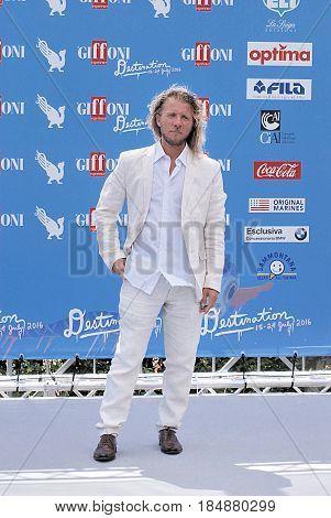 Giffoni Valle Piana Sa Italy - July 20 2016 : Alfredo Lo Piero at Giffoni Film Festival 2016 - on July 20 2016 in Giffoni Valle Piana Italy