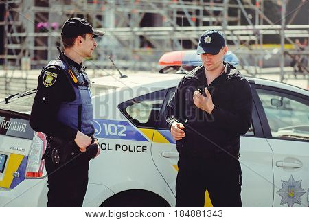 Eurovision 2017 Police Securing The Event