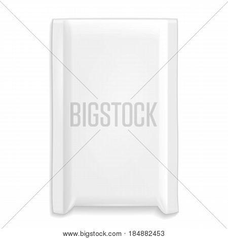 Protective Postal White Bag Pack Wrapper. Parcel Envelope Mail Lite. Bubble Lined. Illustration Isolated On White Background. Mock Up Template Ready For Your Design. Vector EPS10