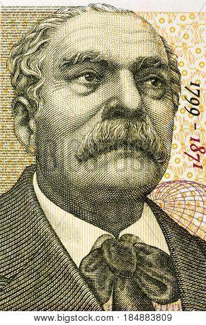 Petar Beron portrait from Bulgarian money - Lev