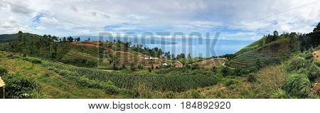 Beautiful panoramic view of Simalungun, North Sumatra, Indonesia.