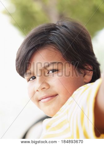 Smiling Hispanic boy