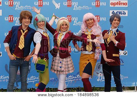 Giffoni Valle Piana Sa Italy - July 21 2016 : Cast Movie Regal Academy at Giffoni Film Festival 2016 - on July 21 2016 in Giffoni Valle Piana Italy