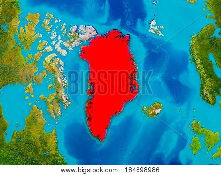 Greenland On Physical Map