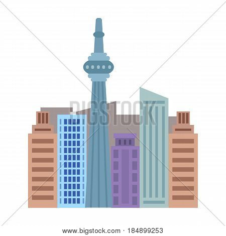 Canadian skyscraper. Canada single icon in cartoon style rater, bitmap symbol stock illustration .
