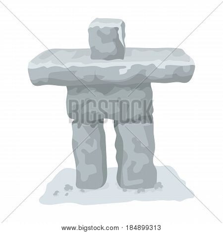 Stone sculpture in canada. Canada single icon in cartoon style