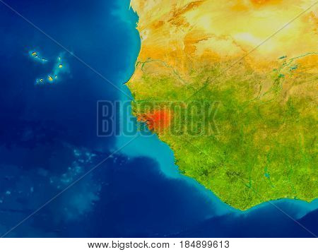 Guinea-bissau On Physical Map