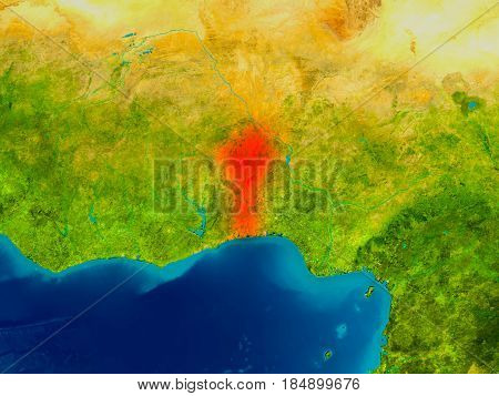 Benin On Physical Map