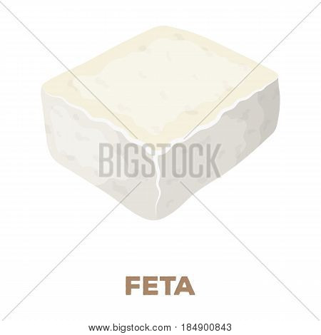 Cheese feta. Different kinds of cheese single icon in cartoon style rater, bitmap symbol stock illustration .