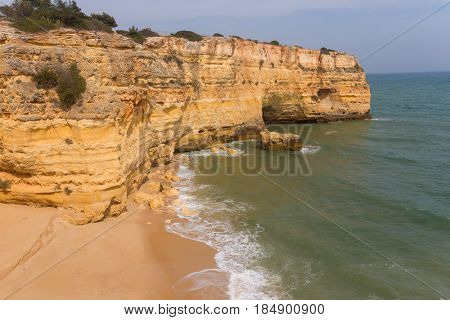 Beautiful Beach of Praia da Marinha, Marinha in Algarve, Portugal