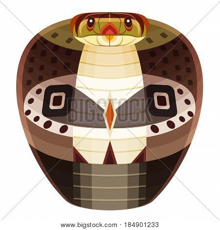 Snake Head Logo. Cobra vector decorative Emblem isolated