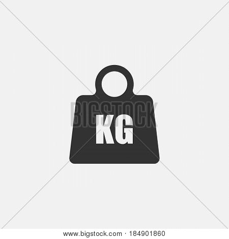 Weight Icon. isolated on background. Vector illustration. Eps 10.