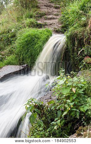 Beautiful Falls In Mountains