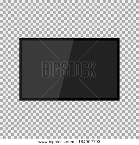 Realistic Modern, Blank Screen Lcd, Led, Tv, Monitor On Isolate Background. Vector Illustration