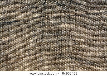 Brown Hessian Sack Cloth Texture.