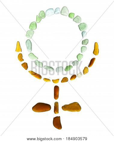 Sea Glass Mosaic - Pluto  Astrological Symbol