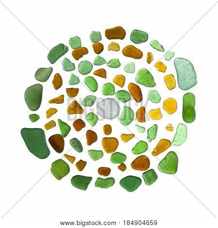 Sea Glass Mosaic - Labyrinth