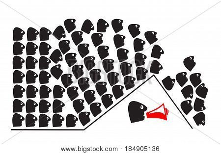 Human Herd Instinct. People following the majority without making their own decision also called the bandwagon effect