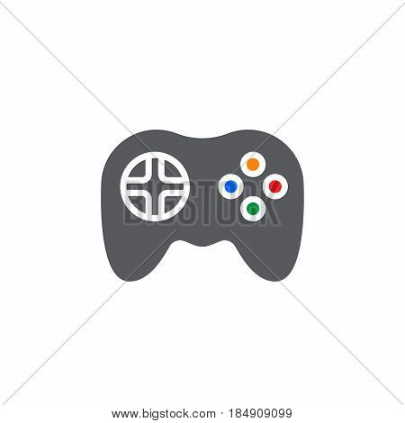 Video game symbol. Gamepad icon vector filled flat sign solid colorful pictogram isolated on white. Logo illustration
