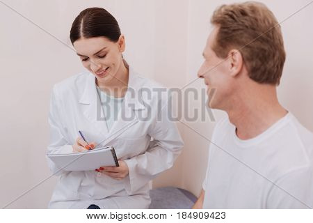 What is your issue. Prominent trained experienced professional trying forming friendly relationships with the man and asking him about the symptoms