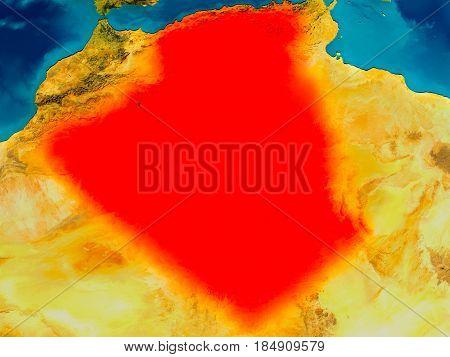 Algeria On Physical Map