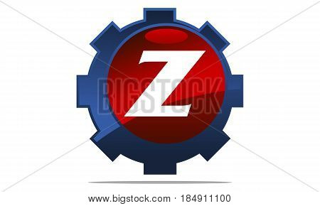 This image describe about Gear Logo Letter Z