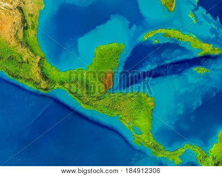 Belize On Physical Map