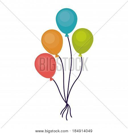 Balloon icon. Celebration fair carnival party and event theme. Isolated design. Vector illustration