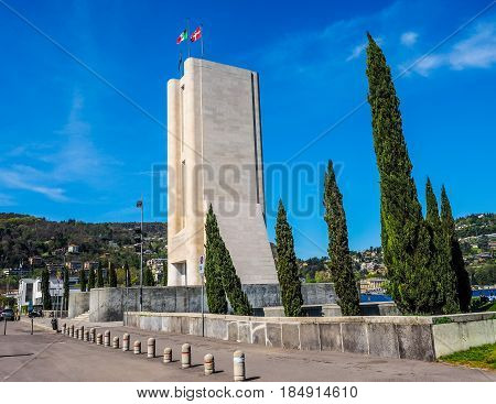 Monumento Ai Caduti War Memorial In Como (hdr)
