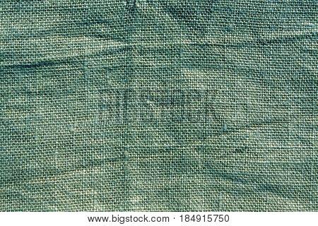 Cyan Hessian Sack Cloth Texture.