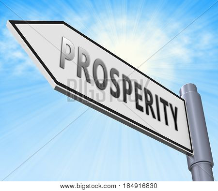Prosperity Sign Meaning Investment Profits 3D Illustration
