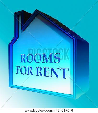 Rooms For Rent Shows Real Estate 3D Rendering